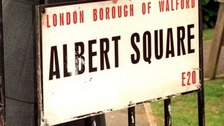 Albert Square sign.