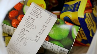 File photo of a bag of groceries.