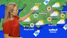 Phillipa Drew with the weather