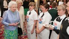 The Queen meeting pupils from Latimer Arts College near Kettering