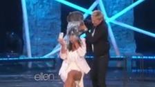 Kim Kardashian's ice bucket challenge.