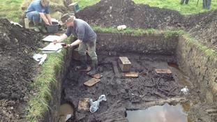 2,200 year old Glastonbury Lake Village is excavated