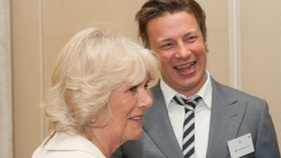 Duchess of Cornwall and chef Jamie Oliver
