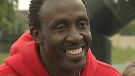 Linford Christie in Worksop