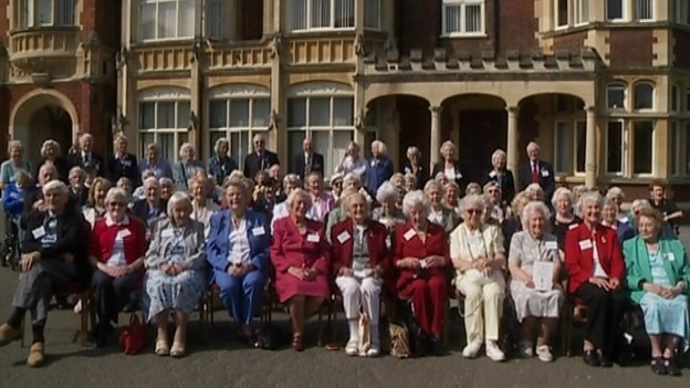 80 Bletchley Park veterans have returned for a reunion 75 years after the War.