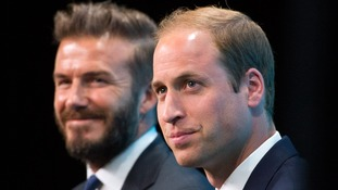 David Beckham and Prince William at the  'United for Wildlife' campaign launch.