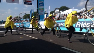 Strictly Cycling perform in Bristol