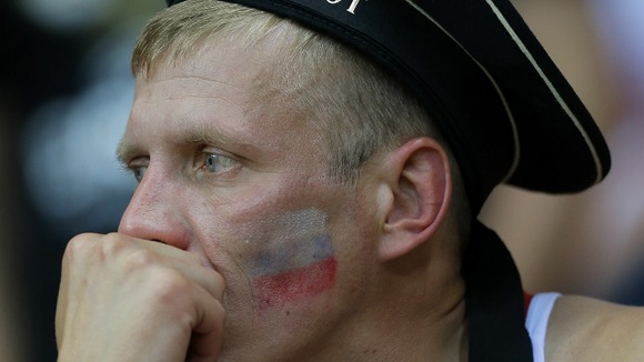 A tearful Russian fan