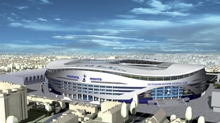 Artist's impression of new stadium