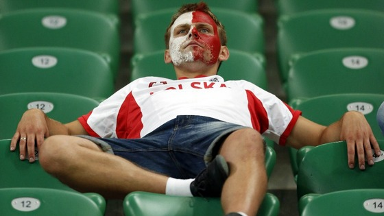 A Polish fan in Wroclaw