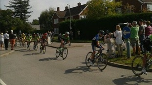 Tour of Britain passes through Charlton Kings in Cheltenham