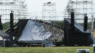 One person died and another was seriously injured when the stage collapsed before the concert in Toronto.