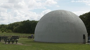 What wartime secrets were kept in the mysterious Langham dome?