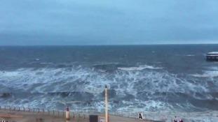 Choppy waters in Blackpool.
