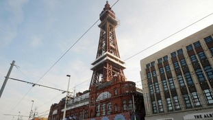The Blackpool Tower Headland outdoor arena lies in the shadow of the Lancashire resort's tower.