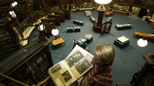 The Reading Rooms at Liverpool's Central Library.