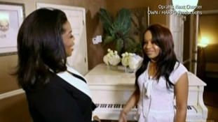 Oprah Winfrey and Bobbi Kristina.