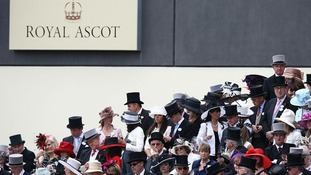 Racegoers in the stands at Royal Ascot.