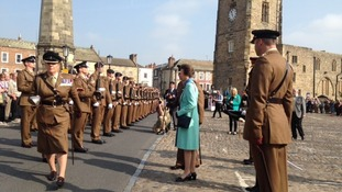 Princess Anne hands out medals