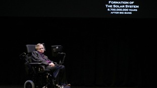Professor Stephen Hawking taking part in the Seattle Science Festival