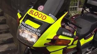 The Blood Bikes scheme is ran by volunteers