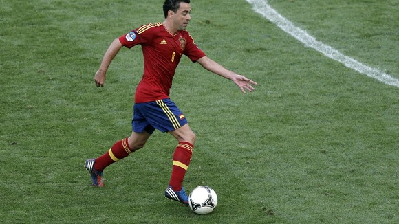 Spain midfielder Xavi Hernandez. 