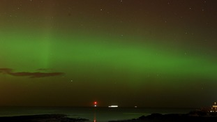 The Northern Lights were seen in Scotland earlier this year