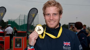 Alex Tate with his gold medal