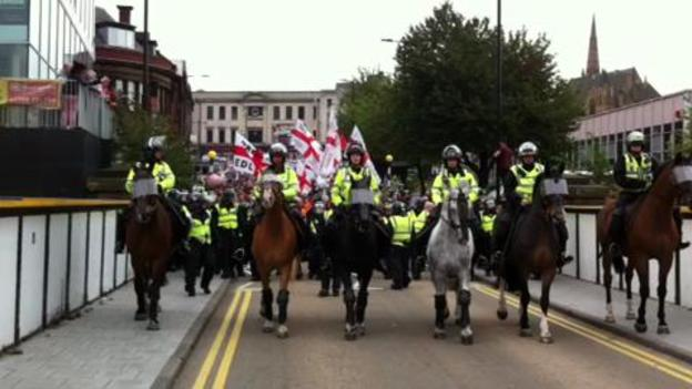 EDL protest, Rotherham