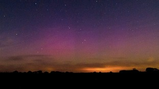 The aurora borealis or Northern Lights in North Norfolk in the evening on Friday 12 September 2014