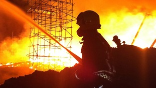 More than 60 firefighters tackled the blaze on Friday night.