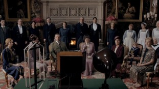 The cast of ITV's hit show Downton Abbey.