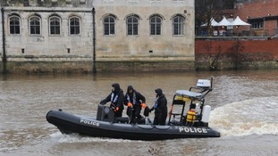 Police on the River Ouse