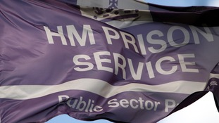 A HM Prison service flag flies outside HMP Birmingham
