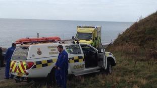 Whitehaven Coastguard were called to Whitey Rock, Whitehaven