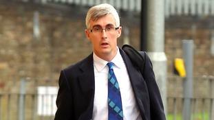 Paediatric haematologist Dr Myles Bradbury, 41, from Suffolk, arrives at Cambridge Crown Court.