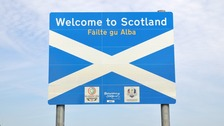 A sign for Scotland.
