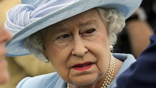 The Queen was seen with a bloodshot over the weekend