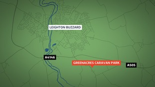 The raid took place at the Greenacres Caravan Park near Leighton Buzzard.