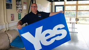 Craig Johnston supporting the Yes campaign