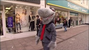 Sid the Shark helping Cumbria's Trading Standards team
