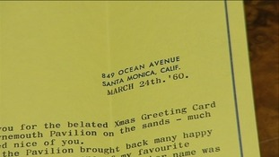 The letter was sent from Laurel's address in Santa Monica, California