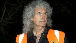Brian May will visit Somerset today