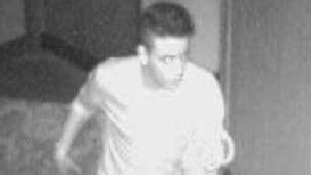 CCTV image of a suspect police are trying to trace