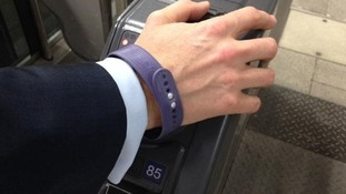 Wrist band with microchip used for contactless payment