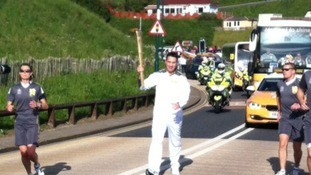 The torch is carried through Saltburn