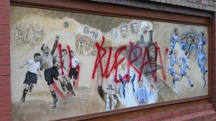 Queen of the South murals defaced with red graffiti