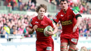 Llanelli Scarlets' Liam Williams in action