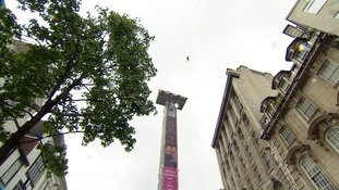 Zipwire in Liverpool city centre
