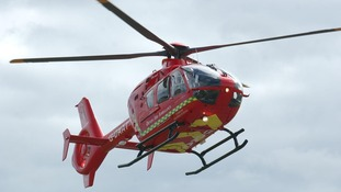 The air ambulance are at the scene